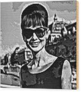 Simply Audrey Wood Print