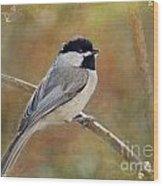 Simply Chickadee II Wood Print