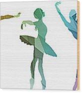 Simply Dancing 3 Wood Print
