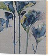 Simply Flowers Wood Print
