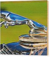 Simply Jaguar-front Emblem Wood Print