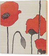 Simply Poppies 2. Wood Print