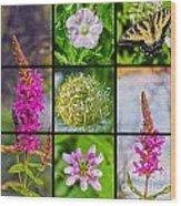 Simply Summer Wildflowers Wood Print