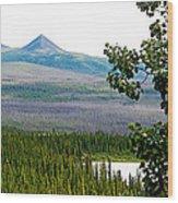 Simpson Peak At Swan Lake-yt Wood Print