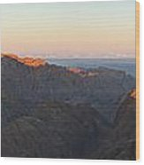 Sinai View From St. Catherine Montain On Sunrise Wood Print