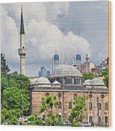 Sinan Pasha Mosque In Istanbul Wood Print