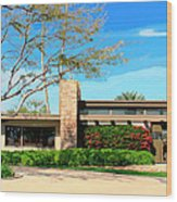 Sinatra Home Palm Springs Wood Print by William Dey