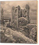 Sinclair Castle Scotland - 2 Wood Print