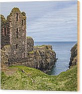 Sinclair Castle Scotland - 4 Wood Print