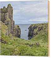Sinclair Castle Scotland - 5 Wood Print