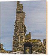 Sinclair Castle Scotland - 6 Wood Print