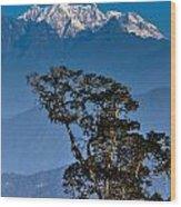 Singalila Ridge Sikkim Wood Print