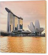 Singapore - Marina Bay Sand Wood Print