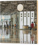 Singapore Changi Airport 02 Wood Print by Rick Piper Photography
