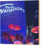 Singapore Drum Set 02 Wood Print by Rick Piper Photography