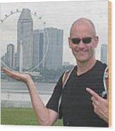 Singapore Flyer Wood Print