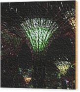 Singapore Lights Wood Print