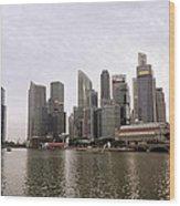 Singapore's Marina Bay Wood Print