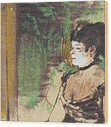 Singer In A Cafe Concert Wood Print