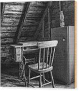 Singer In The Attic Wood Print