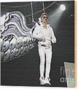 Singer Justin Bieber Wood Print