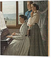 Singing A Ditty Wood Print