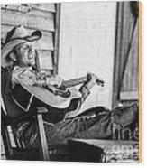 Singing Cowboy Wood Print