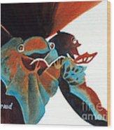 Singing Frog Duet 2 Wood Print