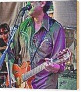 Singing In Austin Wood Print