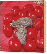 Singing Over Red Eggs Wood Print