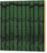 Singles In Dark Green Wood Print