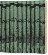 Singles In Light Green Wood Print
