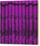 Singles In Purple Wood Print