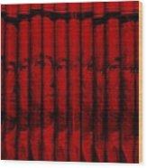 Singles In Red Wood Print