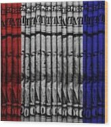 Singles In Red White And Blue Wood Print