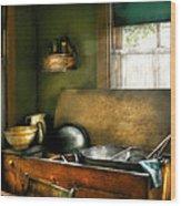 Sink - The Kitchen Sink Wood Print