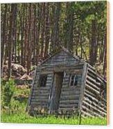 Sinking Cabin Wood Print