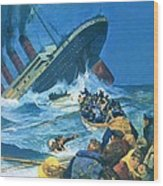 Sinking Of The Titanic Wood Print