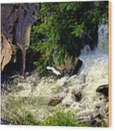 Sinks Waterfall Wood Print by Karen Wiles