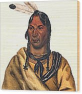 Sioux Chief 1883 Wood Print