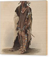 Sioux Warrior Wood Print