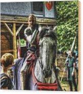 Sir Lancelot Du Lac Wood Print