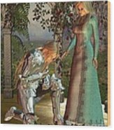 Sir Launcelot And Queen Guinevere Wood Print by Fairy Fantasies