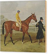 Sir Tatton Sykes Leading In The Horse Sir Tatton Sykes With William Scott Up Wood Print