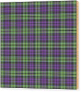 Sir Walter Scott Purple And Green Wood Print by Gregory Scott
