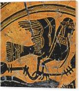 Siren With Lotus Buds - Detail No. 1 Wood Print