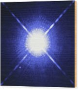 Sirius Binary Star System Wood Print