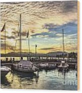 Sirmione Sunset Wood Print