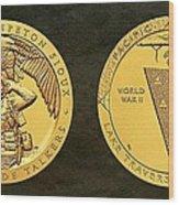 Sisseton Wahpeton Oyate Sioux Tribe Code Talkers Bronze Medal Art Wood Print