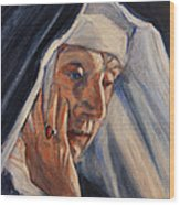 Sister Ann Wood Print